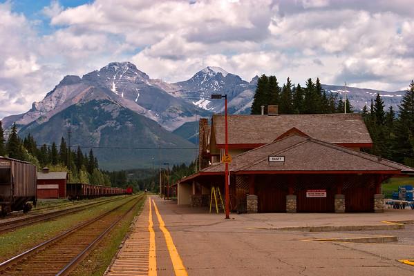 Canadian Pacific Railroad Train Station in Banff Alberta
