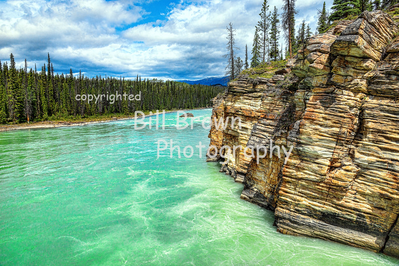 Athabasca River in Jasper National Park, AB
