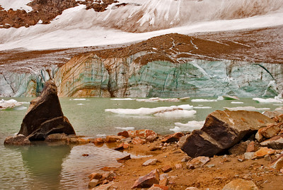 Glacial Lake at Mount Edith Cavell, Jasper National Park, Alberta Canada