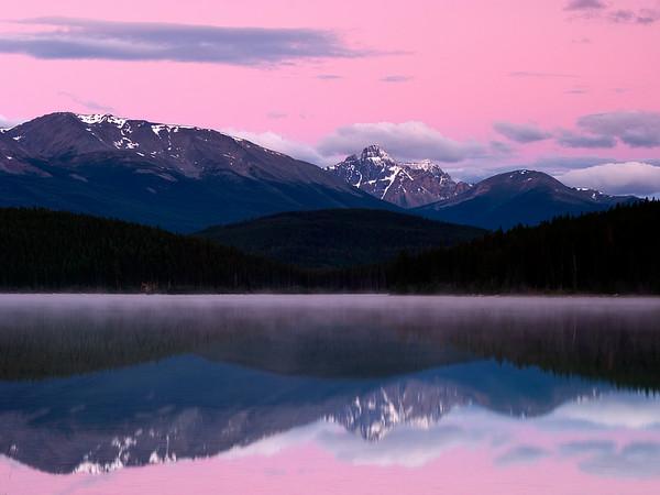 Sunrise Over Pyramid Lake, Jasper National Park