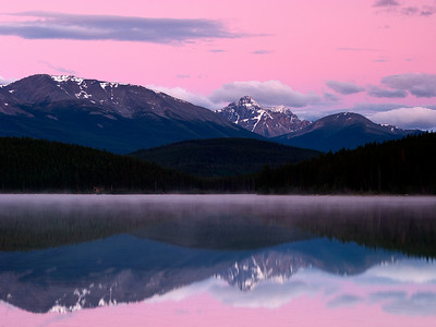 Sunrise Over Pyramid Lake, Jasper National Park
