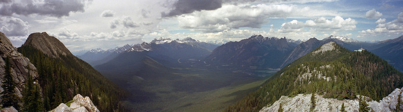 North View Up Bow River Valley