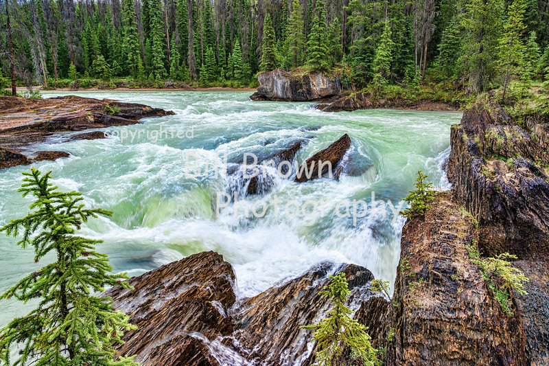 Surging Water near Natural Bridge, Yoho National Park, BC