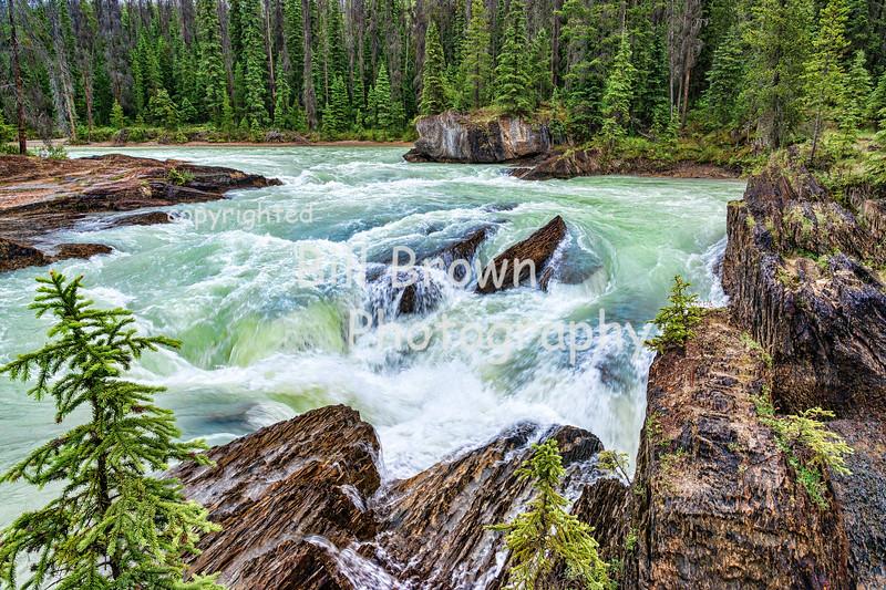 Surging Water near Natural Bridge, Yoho National Park, BC