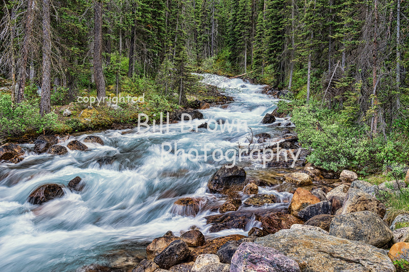 Rushing Water in Banff National Park, AB