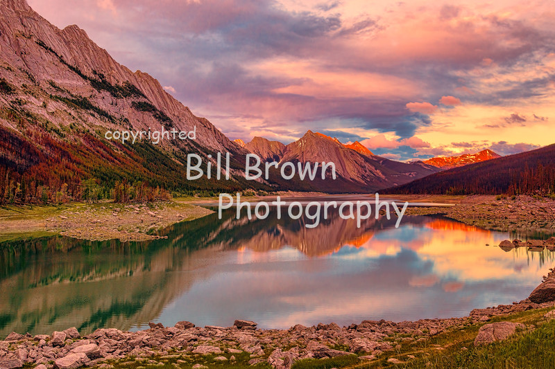 Sunset Colors at Medicine Lake