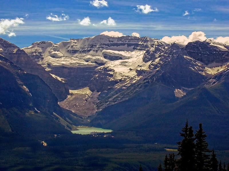 Serene Lake Louise, the Plain of Six Glaciers, & Mt. Victoria