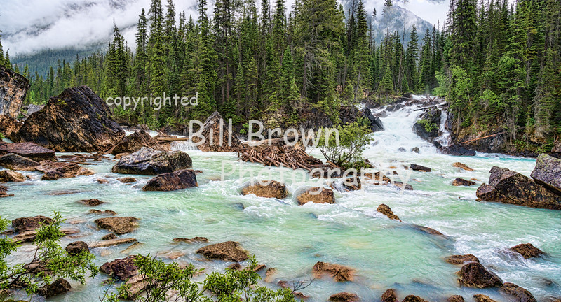 Convergence of the Yoho and Kicking Horse Rivers, BC