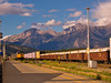 Jasper Townsite train yard