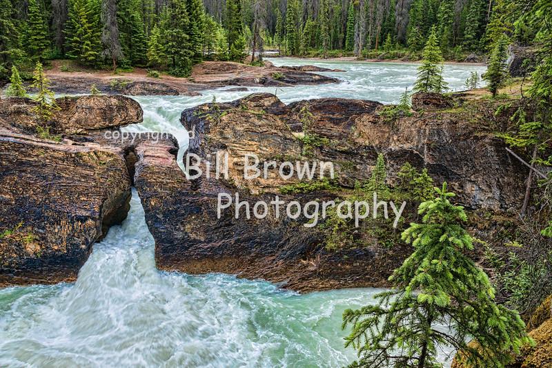 Natural Bridge , on the Kicking Horse River, BC