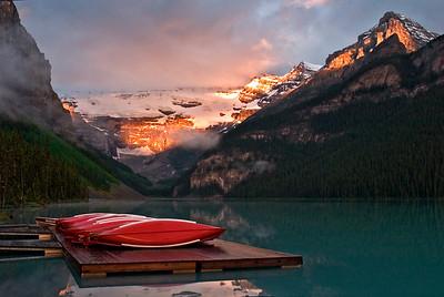 Moraine Lake in Banff National Park, Alberta, Canada