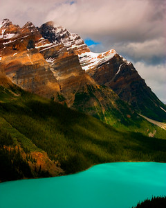Peyto Lake On The Icefields Parkway in Banff National Park
