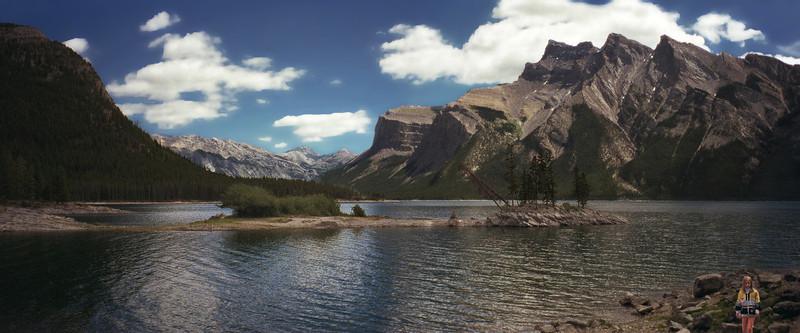 Lake Minnewanka with Mount Inglismaldie