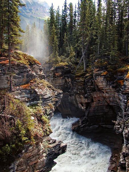 Below Athabasca Falls