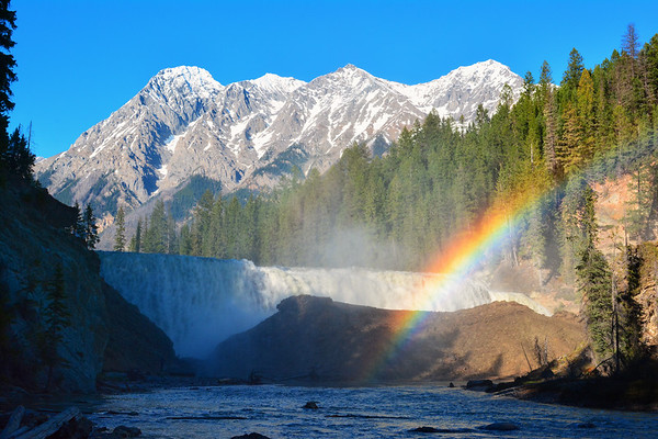 Wapta Falls and rainbow