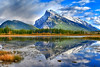 Reflection of Mount rundle in VermillionHDR