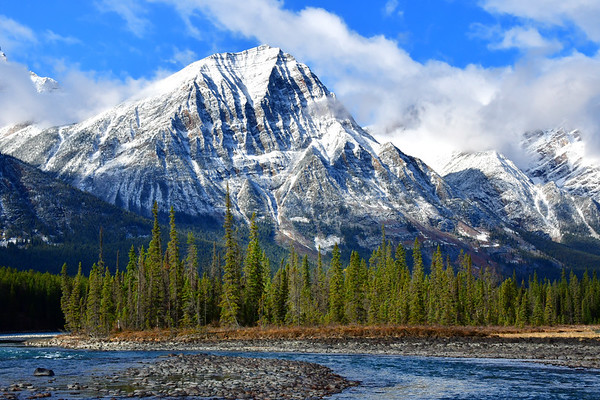Majestic Mountains and Bow River