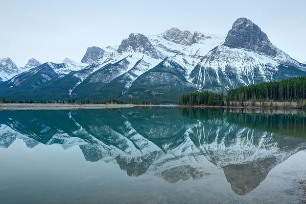 Mountain reflection in Kannanaskis