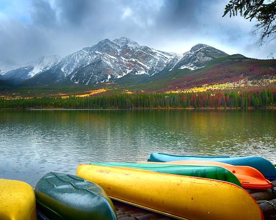 More Canoes on Pyramid Lake