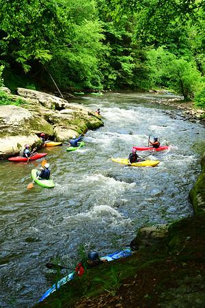 Kayakers in river