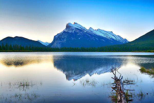 Reflection on Vermillion Lakes