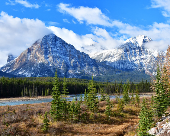 Snow capped mountains in the CDN Rockies