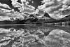 Herbert Lake reflection - B & W