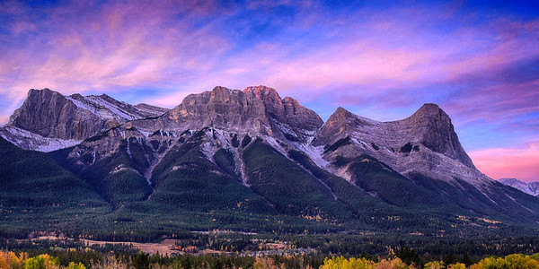 Gorgeous morning colors over Canmore