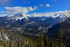 Town of Banff from Sulphur Mountain