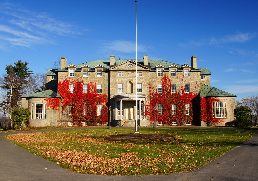 The residence of the Lieutenant Governor of New Brunswick (Old Government House) located on Woodstock road along the Saint John River - Fredericton, New Brunswick; Canada.