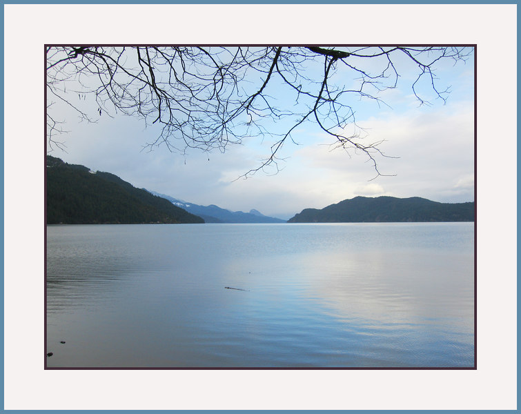Soft blues. <br /> Just after Christmas at Harrison Lake