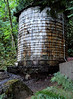 This water tower holds hot water from the spring. Harrison Hot Springs