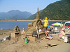 Sand sculpture in progress <br /> Harrison Hot Springs