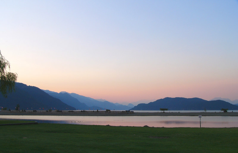 Sunset at Harrison Lake, Harrison Hot Springs