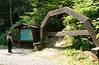 Near the entrance to the tunnels--<br /> <br /> McCulloch's Wonder<br /> We later deduced that the wooden arch is like those used in the tunnel. near Hope, BC