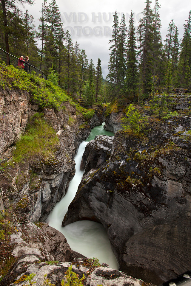 Maligne Canyon - Couple Gazing Down