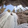 Looking up at frozen falls - horizontal2