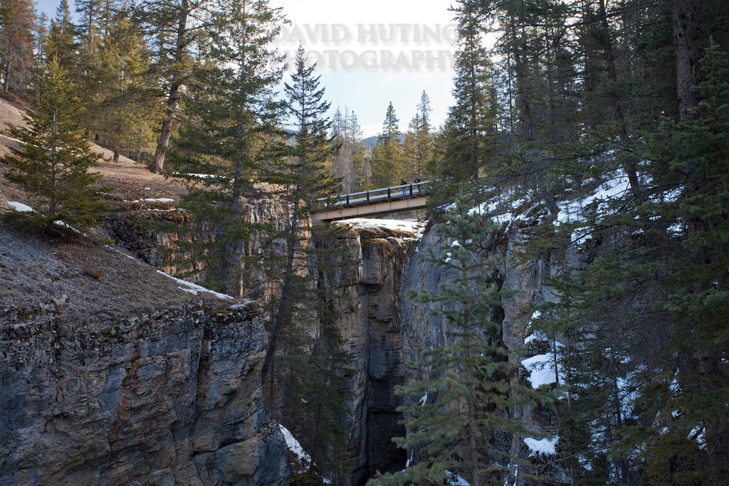 Maligne Canyon Snowy Bridge