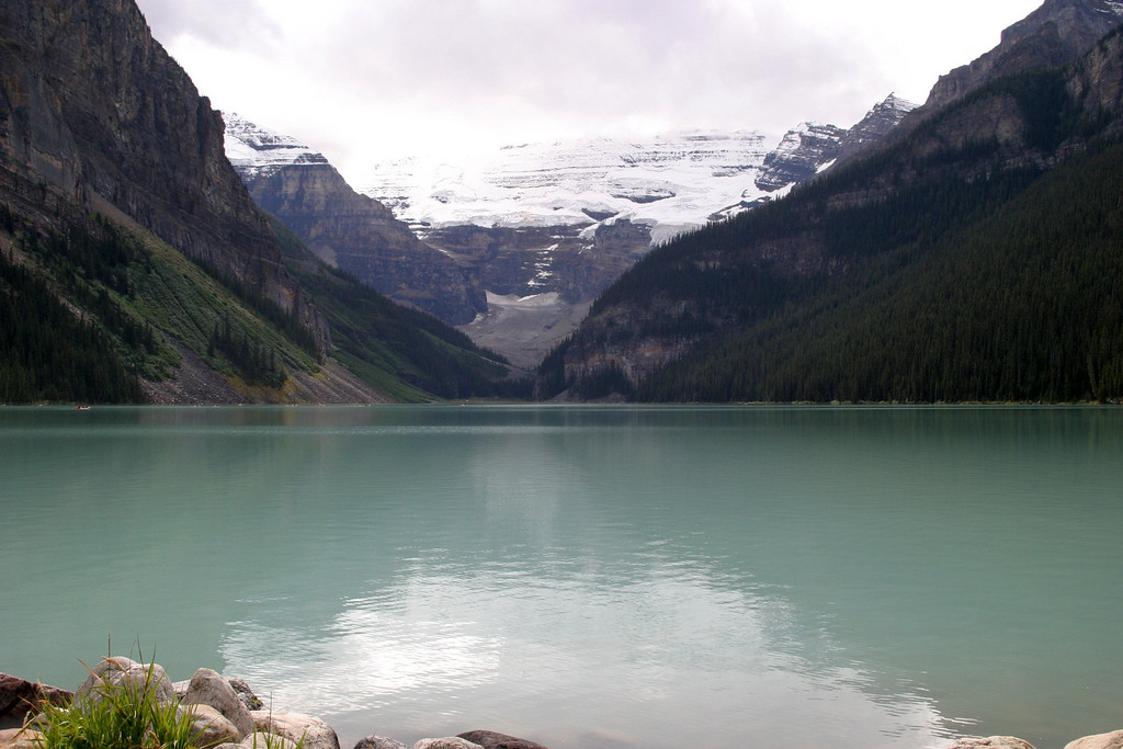 Lake Louise at Chateau Lake Louise. Take the hike up to the small lodge near the Glacier...