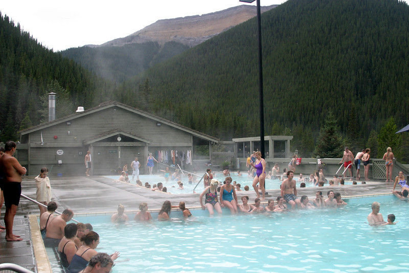 """Jasper 's Miette Hot Springs, Jasper National Park of Canada. Off Hwy 16, 61 km east of Jasper & 51 km west of Hinton  From Jasper, proceed east on highway 16 for 44 km to the Pocahontas Bungalows and the Miette Road junction. From Hinton, proceed west on highway 16 for 34 km to Pocahontas Bungalows and the Miette Road junction. From there, proceed south on the Miette Road. Miette Hot Springs are at the end of Miette Road, 17 km ahead.<br />  <a href=""""http://www.pc.gc.ca/eng/voyage-travel/sources-springs/index/miette/miette/localisation-directions.aspx"""">http://www.pc.gc.ca/eng/voyage-travel/sources-springs/index/miette/miette/localisation-directions.aspx</a>"""