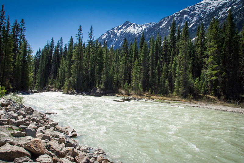 drive from banff to kootenay national park