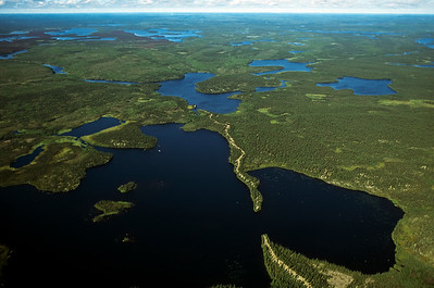 The Robertson Esker extends across the northern Manitoba wilderness for nearly 80 miles