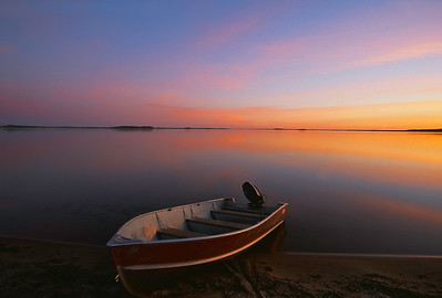 Evening light on Oxford Lake
