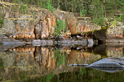 Evening reflections, Bloodvein River.
