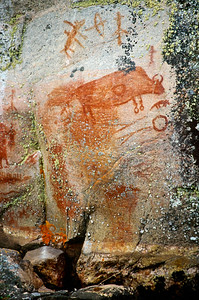 Bloodvein River.  Pictographs at Artery Lake