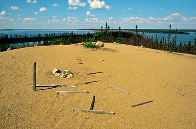 Grave site alongside the Seal River