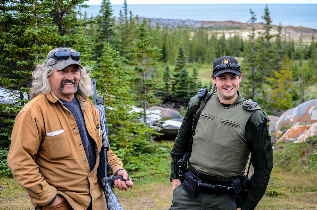 My guide, and local officer armed in case of a polar bear encounter