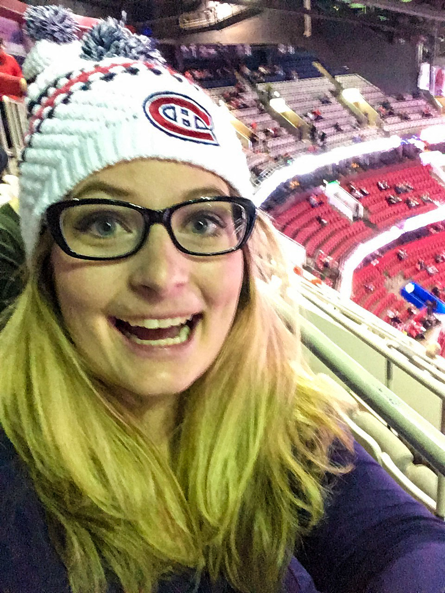 how blogging changed my life? i went to hockey games