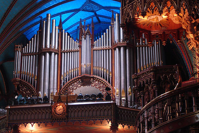 The organ for the Basilique Notre Dame - Montreal, QC ... October 7, 2006 ... Photo by Rob Page III