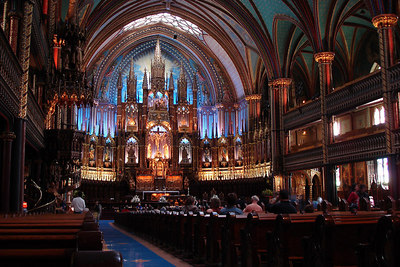 Inside the Basilique Notre Dame - Montreal, QC ... October 7, 2006 ... Photo by Emily Conger